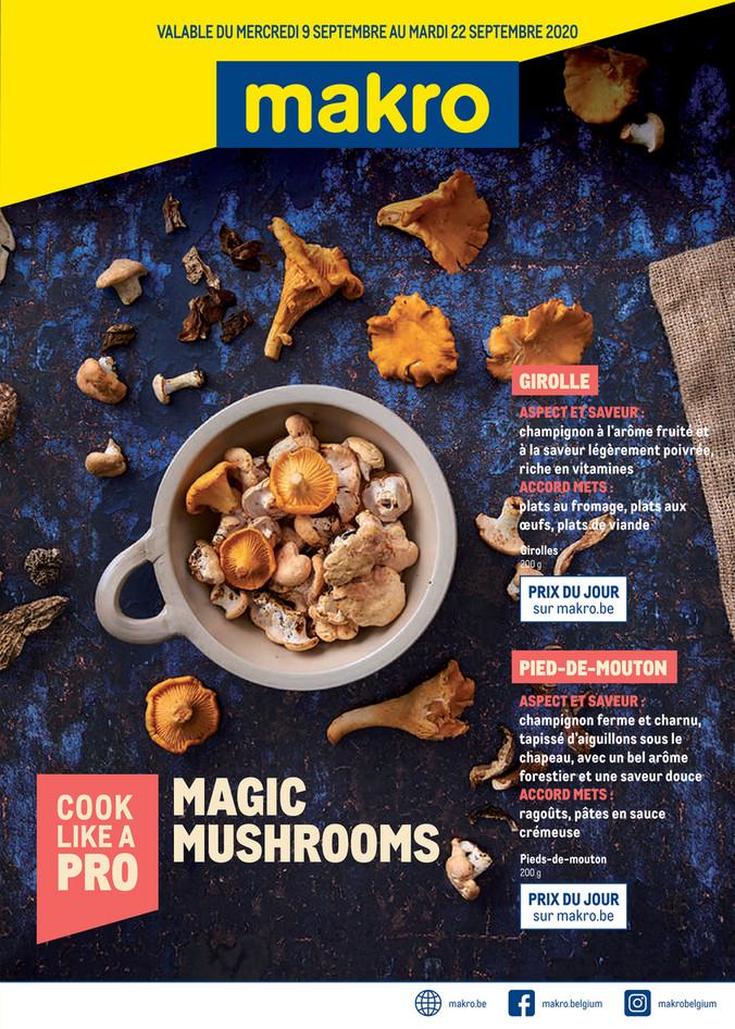 Folder Makro du 09/09/2020 au 22/09/2020 - Promotions de la semaine 37 Mushrooms