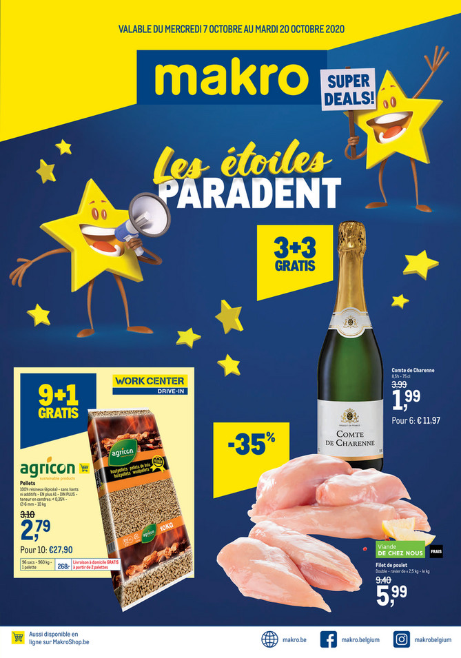 Promotions de la semaine 41 Sterrenparade