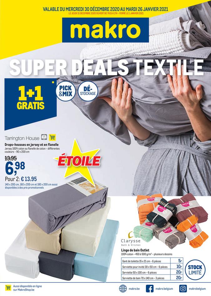 Textiel promotions de la semaine 53