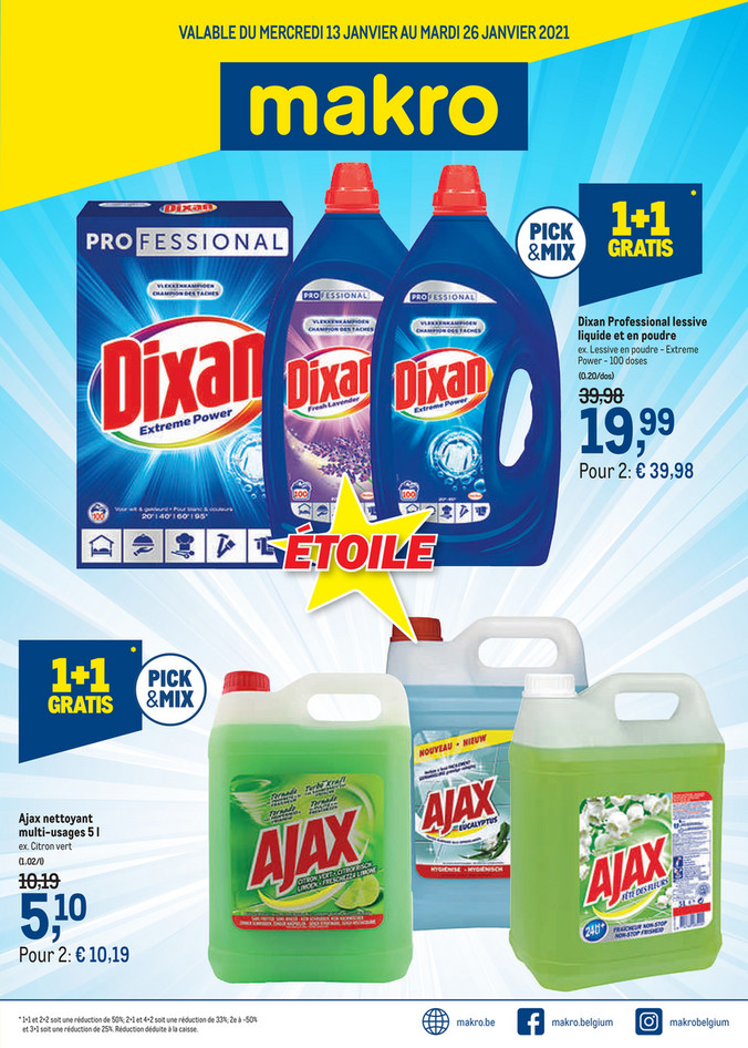 Cleaning - promotions de la semaine 2