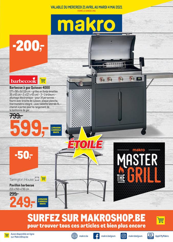 Folder Makro du 21/04/2021 au 04/05/2021 - Master the grill 15 non-food