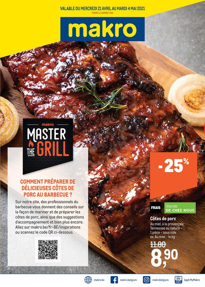 Folder Makro du 21/04/2021 au 04/05/2021 - Master the grillk 15 food