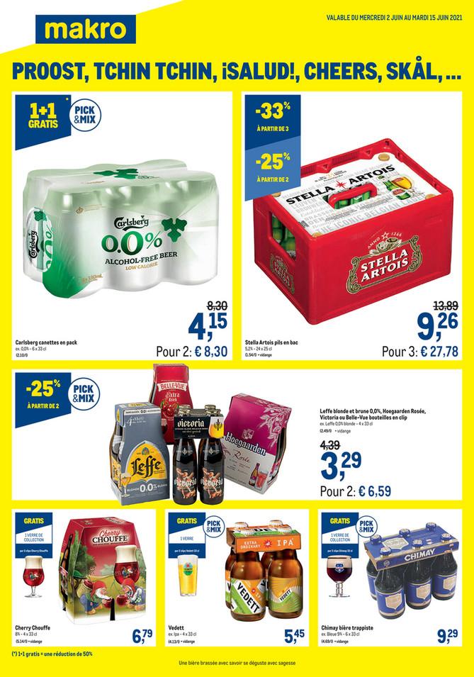 Folder Makro du 02/06/2021 au 15/06/2021 - Promotions de la semaine 22 drankenspecial