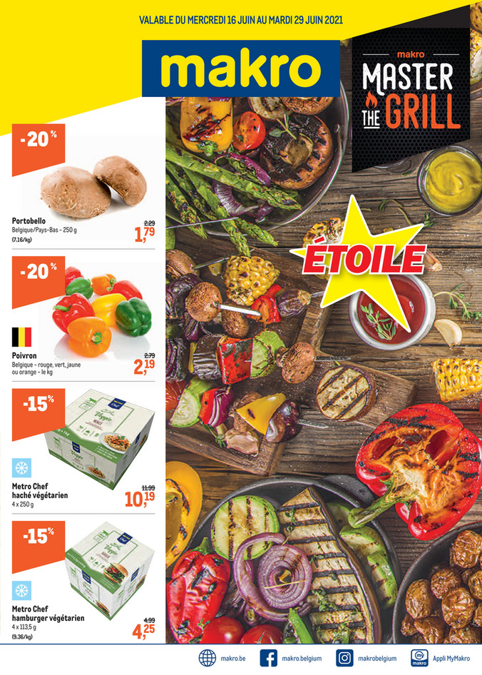 Folder Makro du 16/06/2021 au 29/06/2021 - Promotions de la semaine 24 Master The Grill