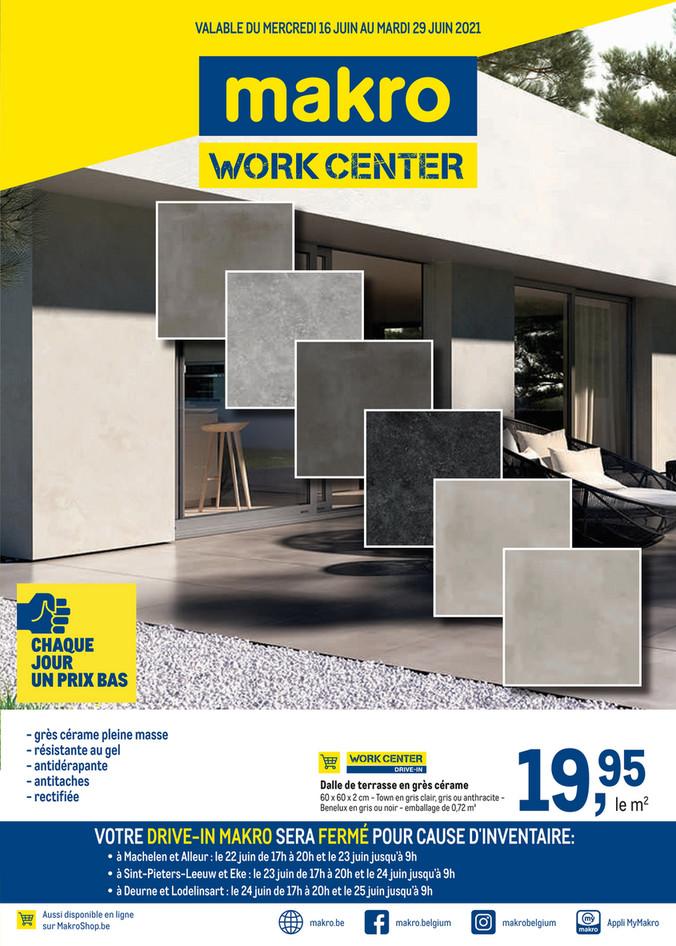 Folder Makro du 16/06/2021 au 29/06/2021 - Promotions de la semaine 24 Work Center