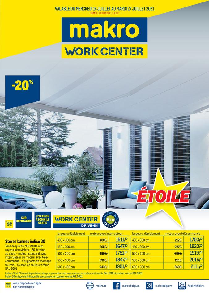 Promotions de la semaine 28 work center