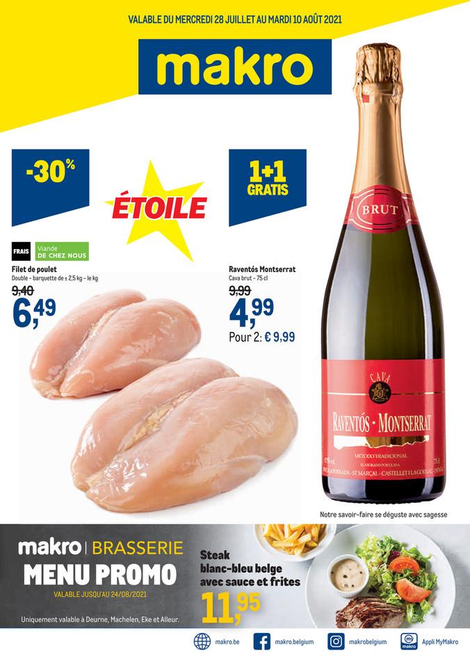 Folder Makro du 28/07/2021 au 10/08/2021 - Promotions de le semaine 29 food