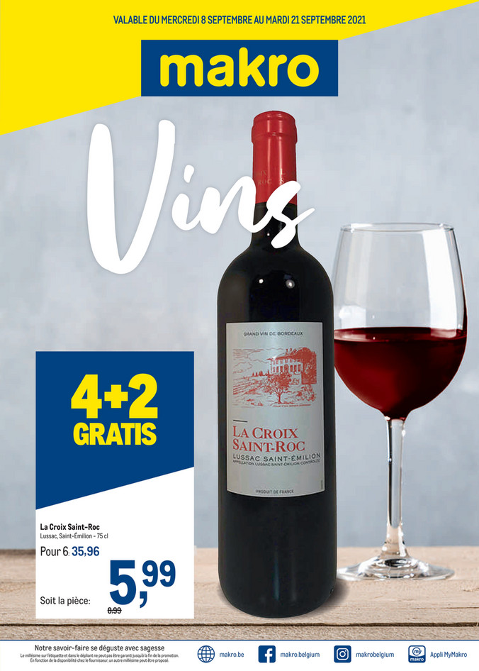 Promotions de la semaine 37 wijnen