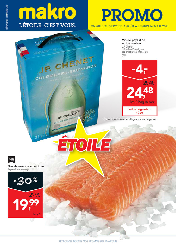 Folder Makro du 01/08/2018 au 14/08/2018 - makro-belgique-food