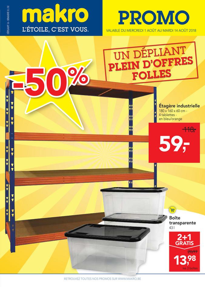Folder Makro du 01/08/2018 au 14/08/2018 - makro-belgique-non-food