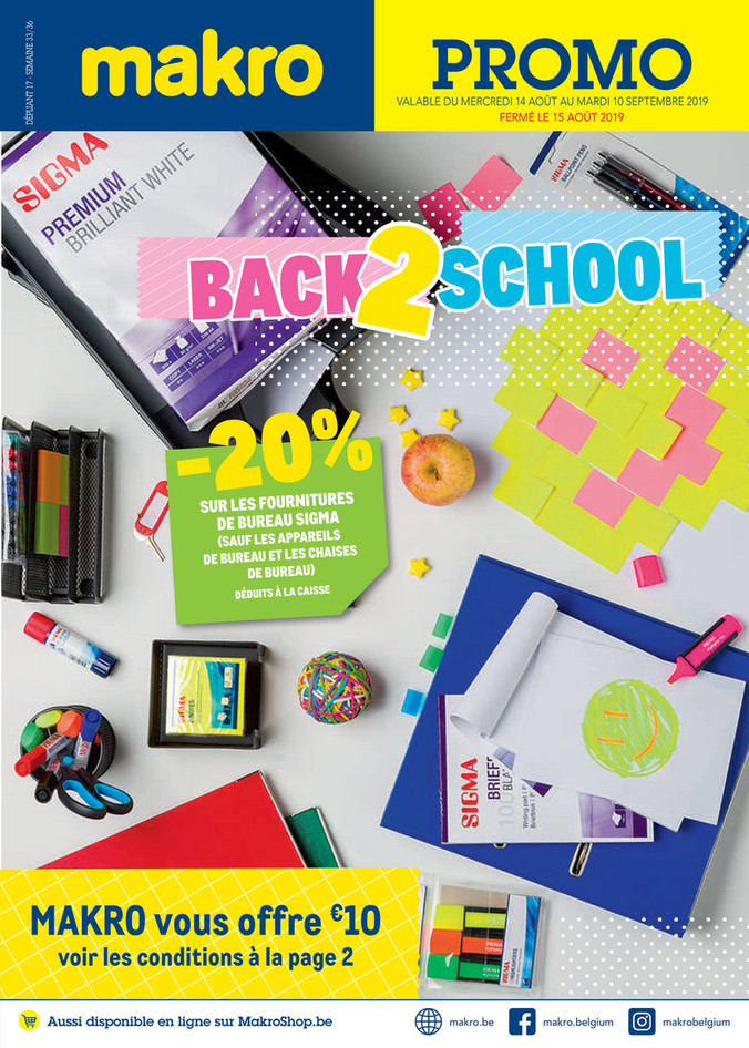 Folder Makro du 14/08/2019 au 10/09/2019 - Back to school