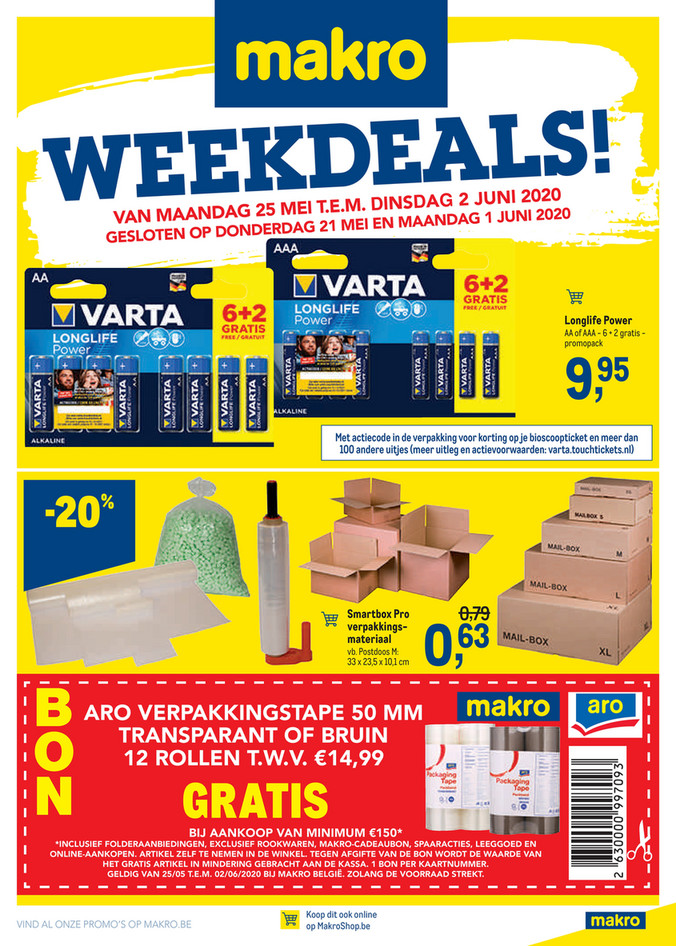 Makro folder van 25/05/2020 tot 02/06/2020 - Weekpromoties 21