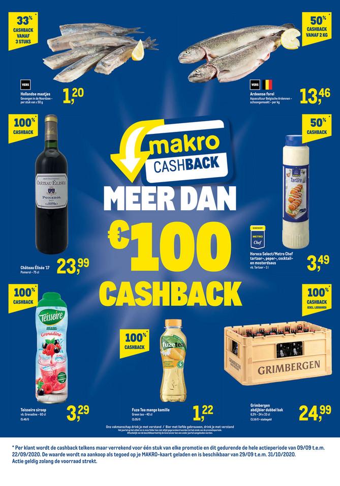 Makro folder van 09/09/2020 tot 22/09/2020 - Weekpromoties 37 Cashback