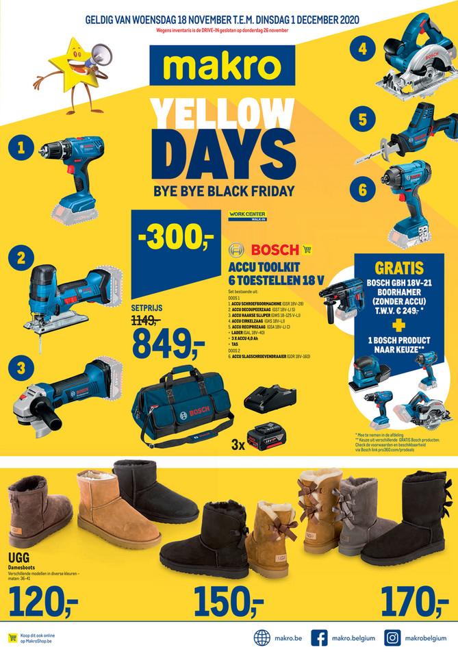 Weekpromoties 47 Non Food Yellow Days