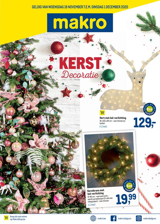 Makro folder van 18/11/2020 tot 01/12/2020 - Weekpromoties 47 Kerstdecoratie