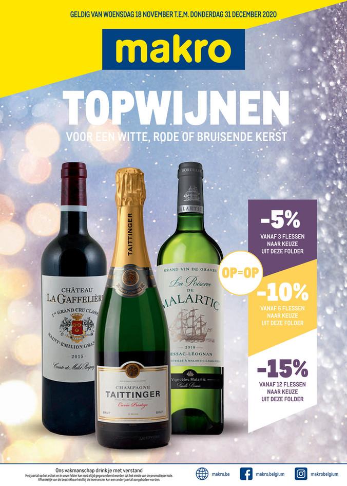 Makro folder van 18/11/2020 tot 01/12/2020 - Weekpromoties 47 Wijnen