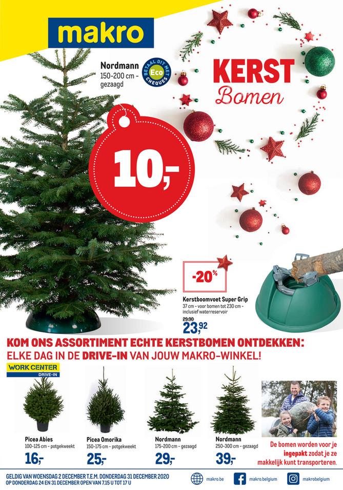 Makro folder van 02/12/2020 tot 31/12/2020 - Weekpromoties 49 Kerstbomen