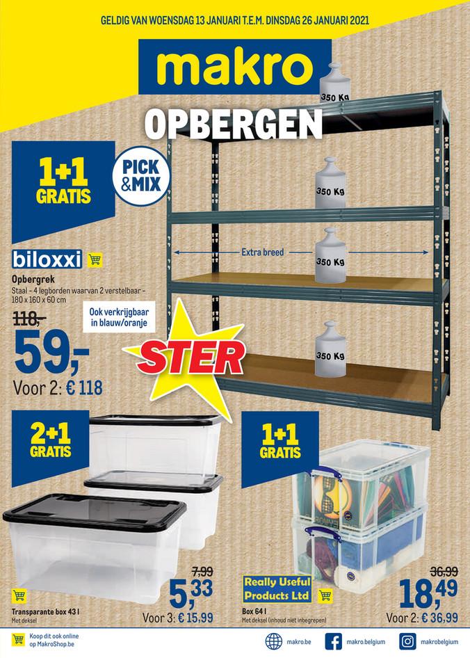 Opbergen - weekpromoties 2