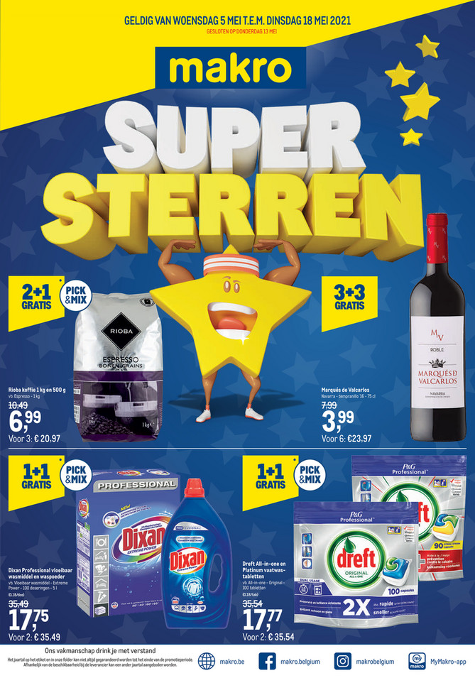 Weekpromoties 18 Supersterren-F