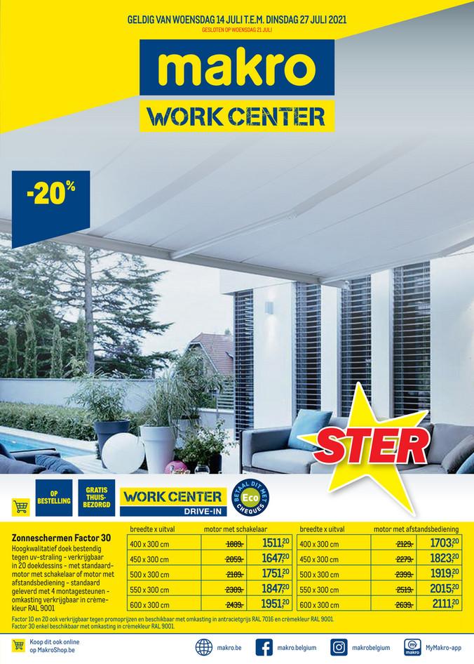Makro folder van 14/07/2021 tot 27/07/2021 - Weekpromoties 28 work center
