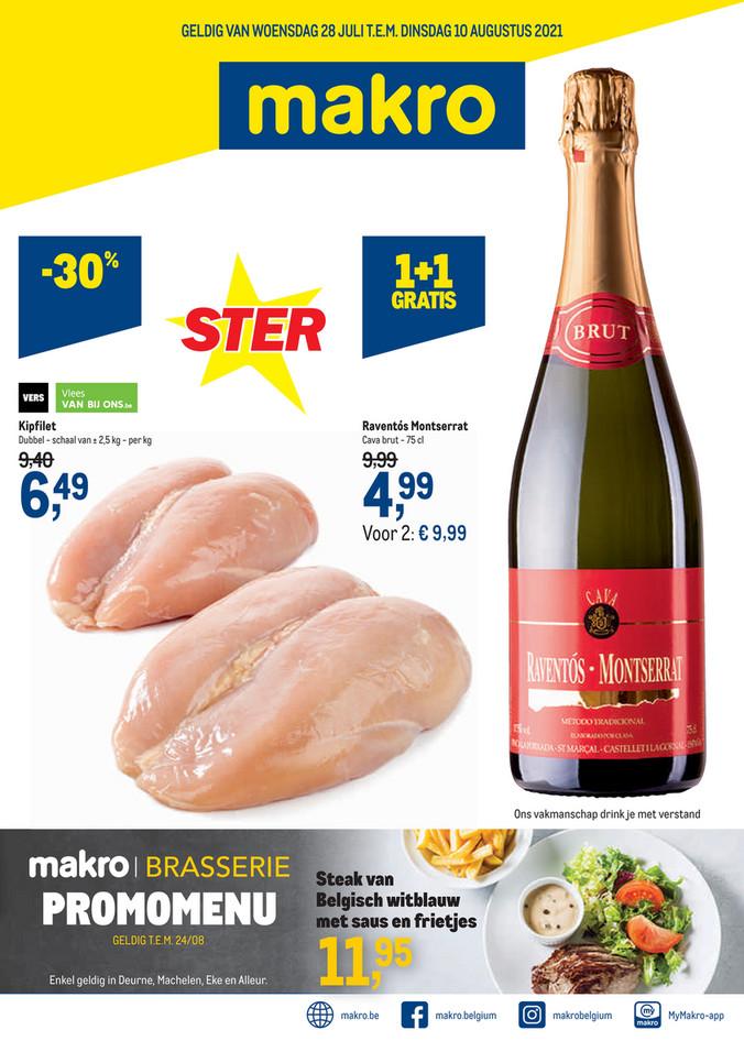 Makro folder van 28/07/2021 tot 10/08/2021 - Weekpromoties 29 food