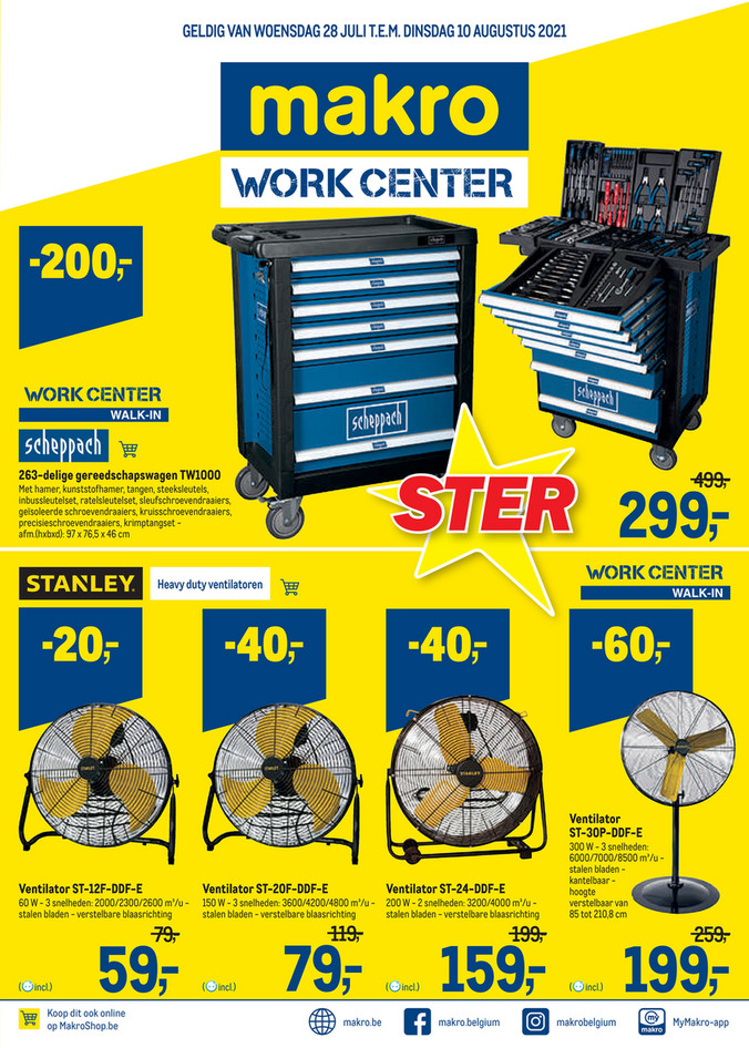 Makro folder van 28/07/2021 tot 10/08/2021 - Week 29 workcenter