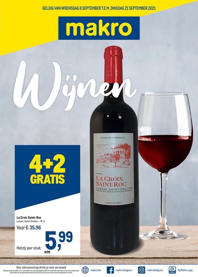 Makro folder van 08/09/2021 tot 21/09/2021 - Weekpromoties 37 wijnen