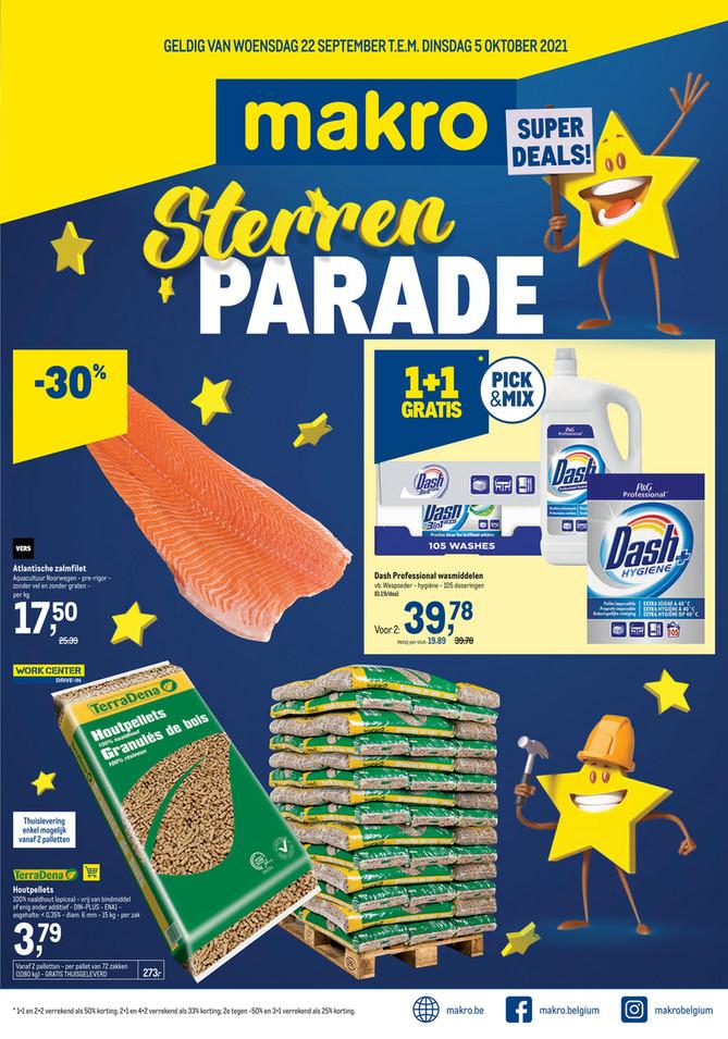 Makro folder van 22/09/2021 tot 05/10/2021 - Weekpromoties 38 sterrenparade