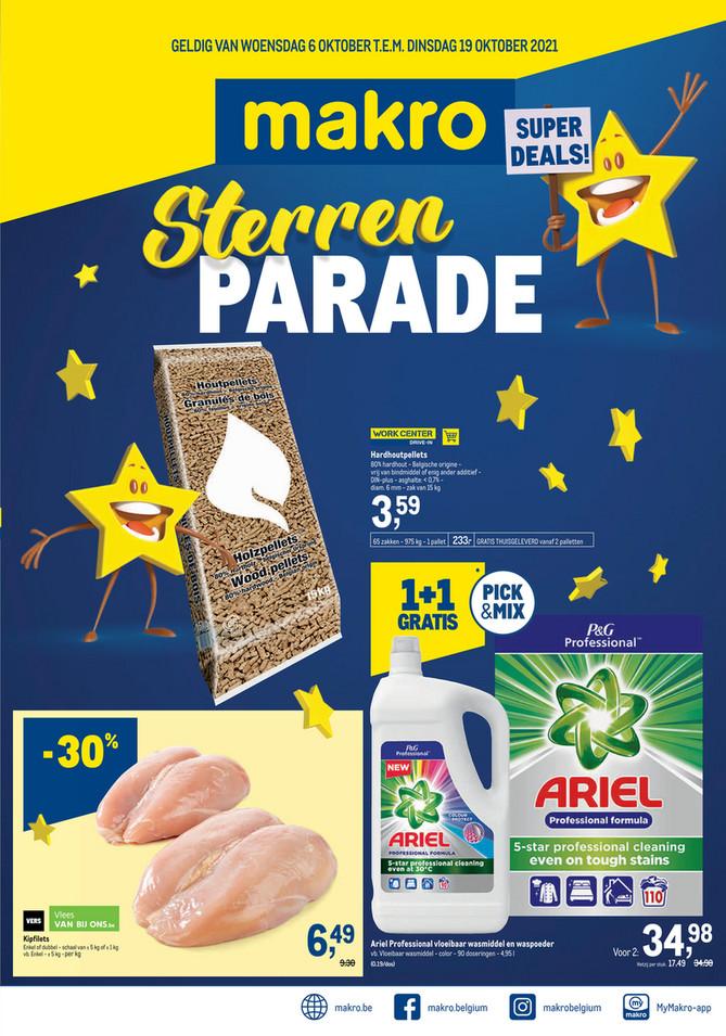 Makro folder van 06/10/2021 tot 19/10/2021 - Weekpromoties 39 sterrenparade