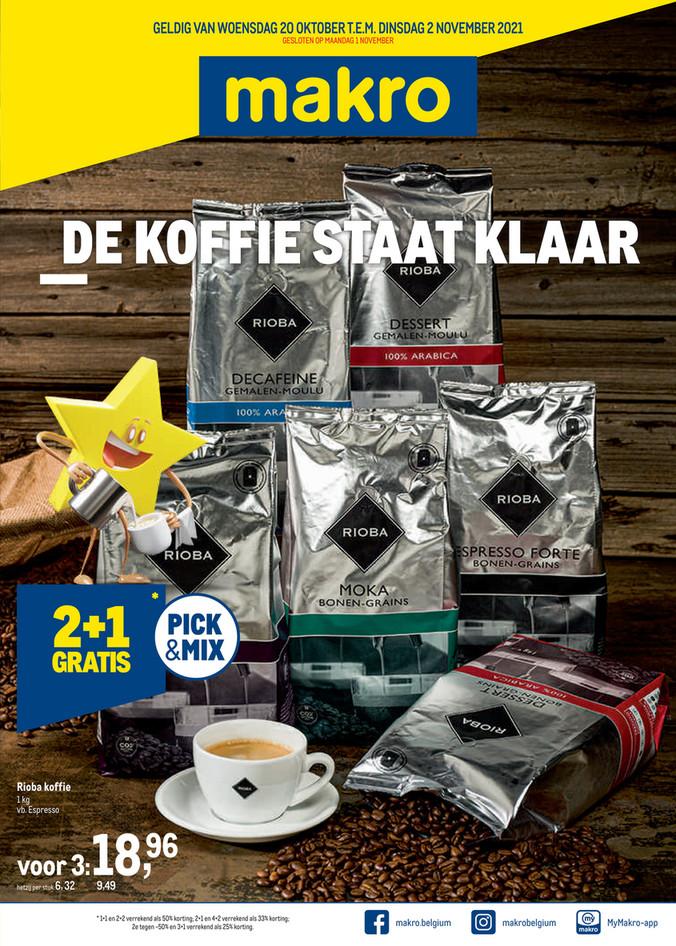 Weekpromoties 40 koffie