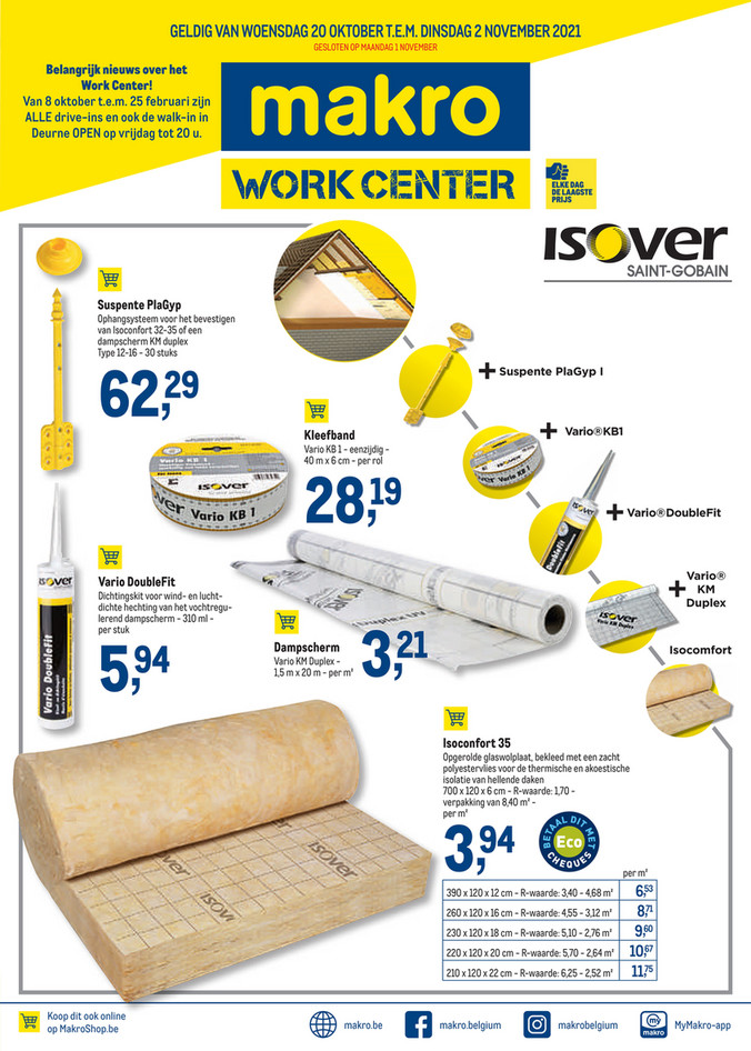 Weekpromoties 40 workcenter