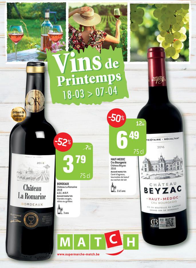 Promotions vins de la semaine 12