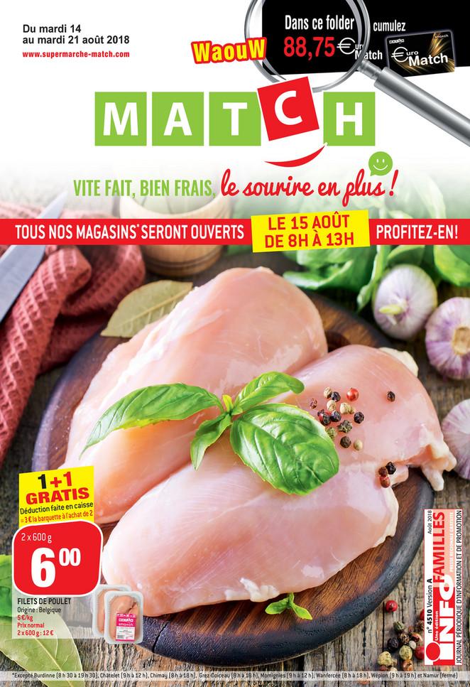 Folder Match du 14/08/2018 au 21/08/2018 - Poulet
