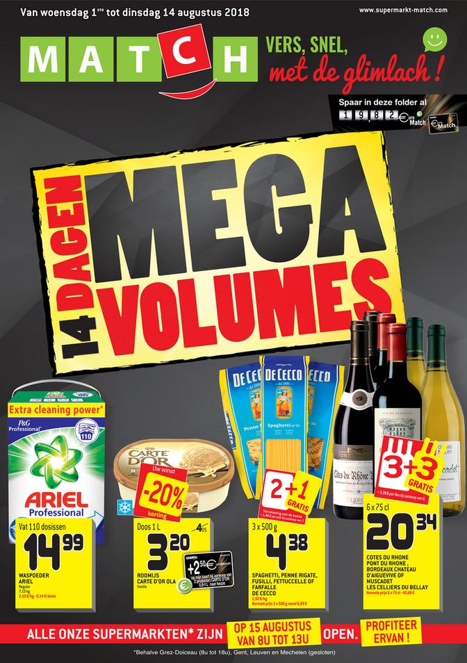 Match folder van 01/08/2018 tot 14/08/2018 - Weekpromoties Mega Volumes