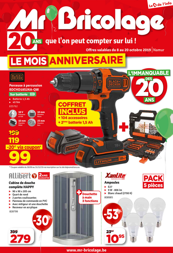 Folder Mr Bricolage du 08/10/2019 au 20/10/2019 - Promotions de la semaine 40