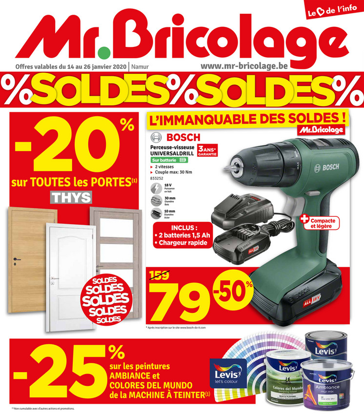 Folder Mr Bricolage du 14/01/2020 au 26/01/2020 - Promotions de la semaine 03