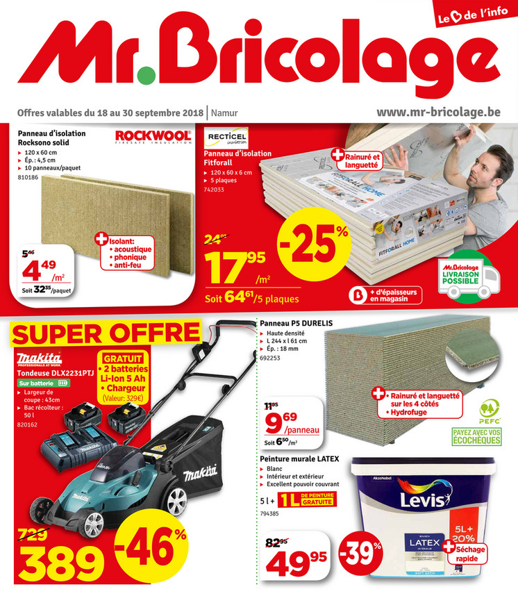 Folder Mr Bricolage du 18/09/2018 au 30/09/2018 - Promotions de la semaine 38