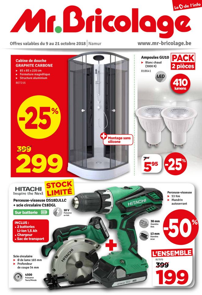 Folder Mr Bricolage du 09/10/2018 au 21/10/2018 - Promotions de la semaine 41