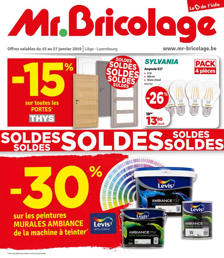 Folder Mr Bricolage du 15/01/2019 au 27/01/2019 - Promotions de la semaine 2