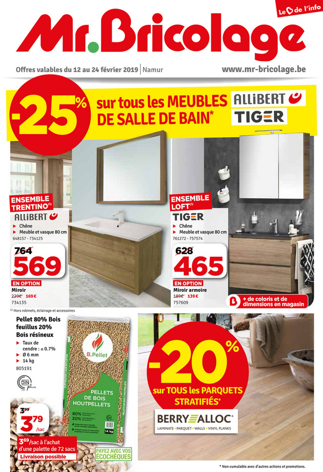 Folder Mr Bricolage du 12/02/2019 au 24/02/2019 - Promotions de la semaine 7