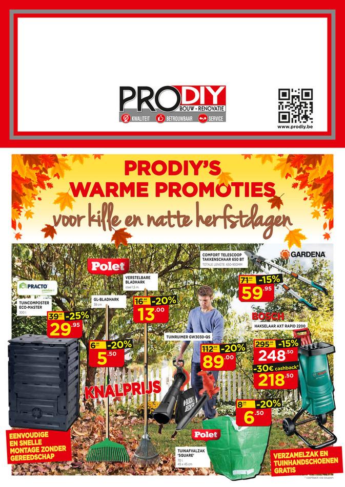 Prodiy folder van 01/10/2018 tot 31/10/2018 - FOLDER OKTOBER 2018