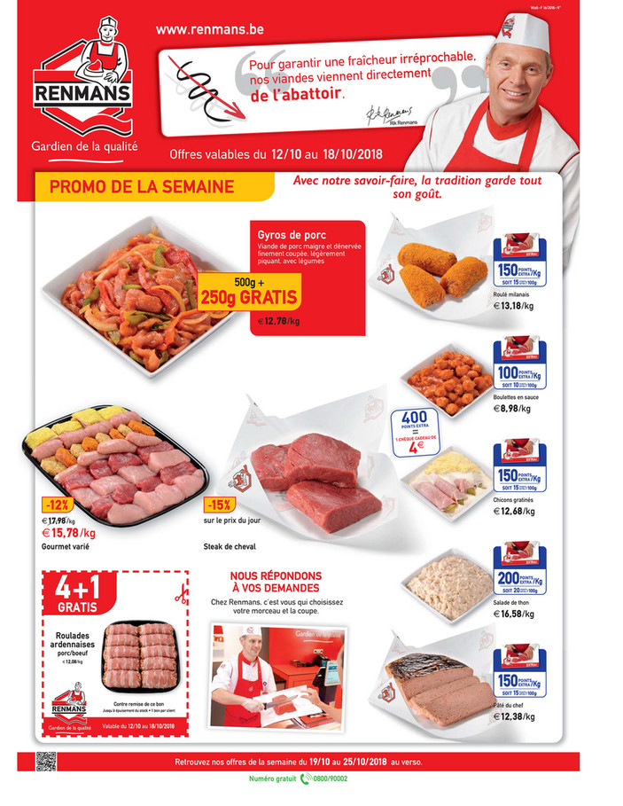 Folder Renmans du 12/10/2018 au 18/10/2018 - Promotions de la semaine 41
