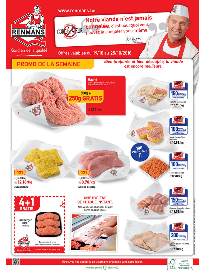 Folder Renmans du 19/10/2018 au 25/10/2018 - Promotions de la semaine 42