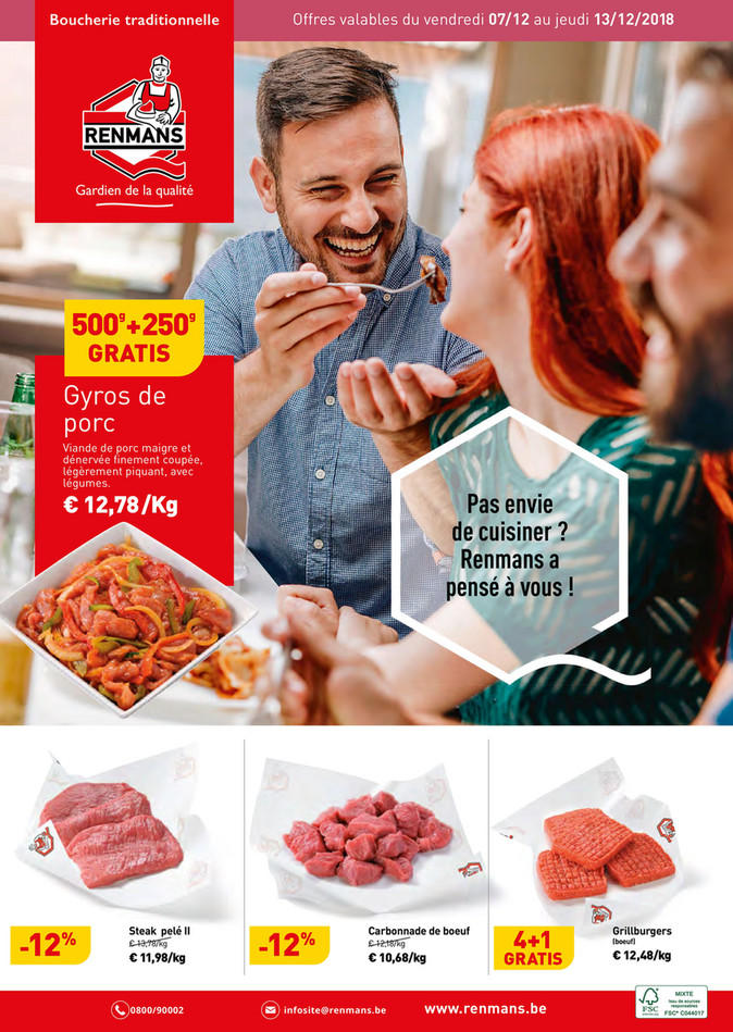 Folder Renmans du 07/12/2018 au 13/12/2018 - Promotions de la semaine 50
