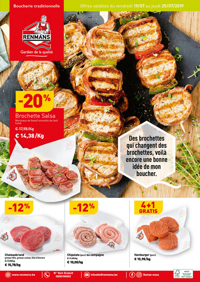 Folder Renmans du 19/07/2019 au 25/07/2019 - Promotions de la semaine 28