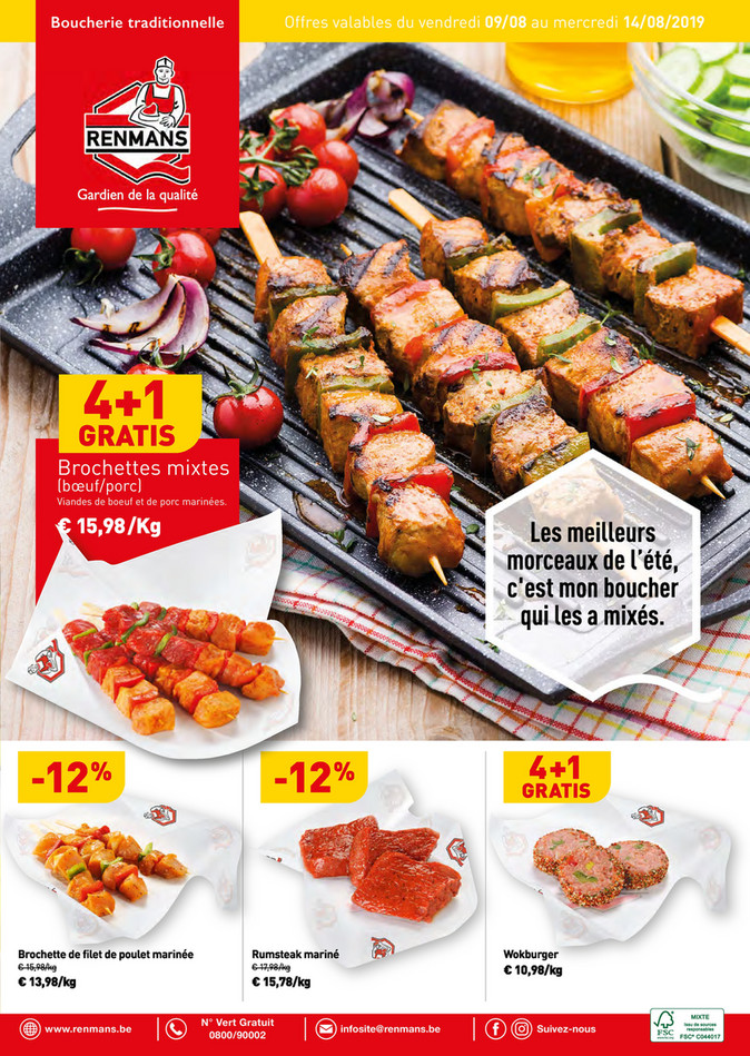 Folder Renmans du 09/08/2019 au 14/08/2019 - Promotions de la semaine 32