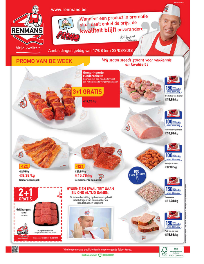 Renmans folder van 17/08/2018 tot 23/08/2018 - Week promoties Renmans