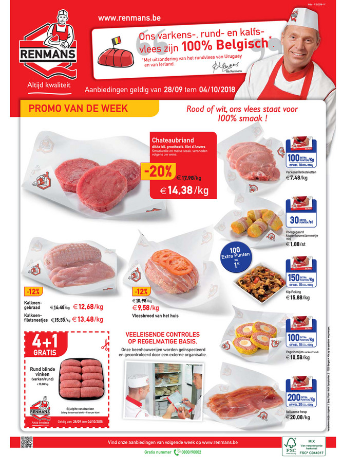 Renmans folder van 28/09/2018 tot 04/10/2018 - Weekpromoties 39