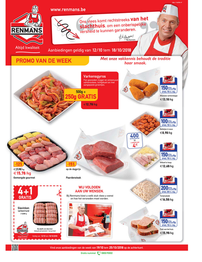 Renmans folder van 12/10/2018 tot 18/10/2018 - Weekpromoties 41