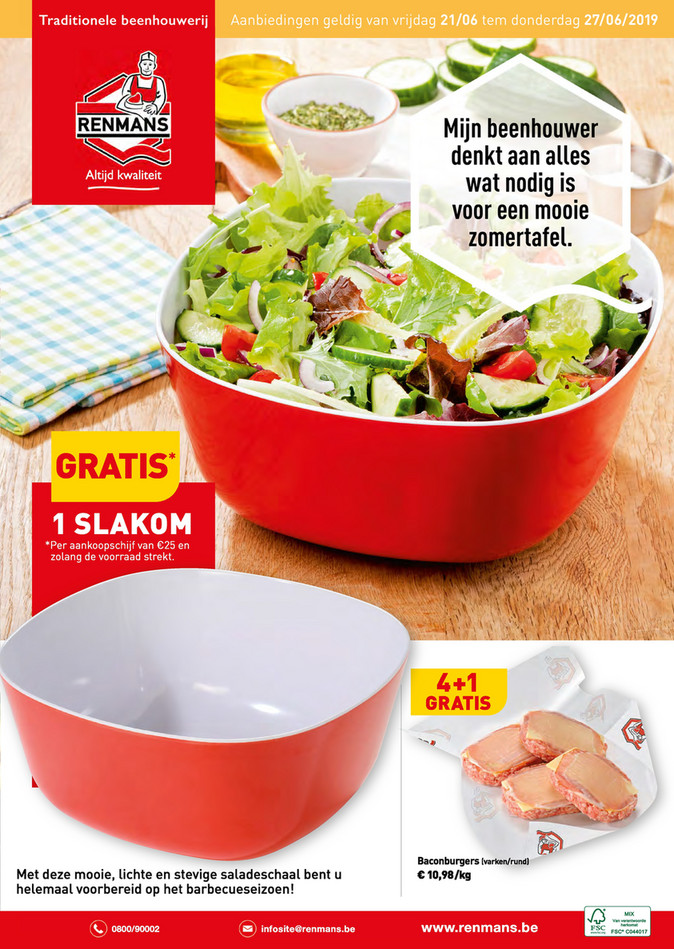 Renmans folder van 21/06/2019 tot 27/06/2019 - Weekpromoties 25